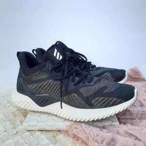 Adidas Alpha Bounce Running Sneakers Black Gum